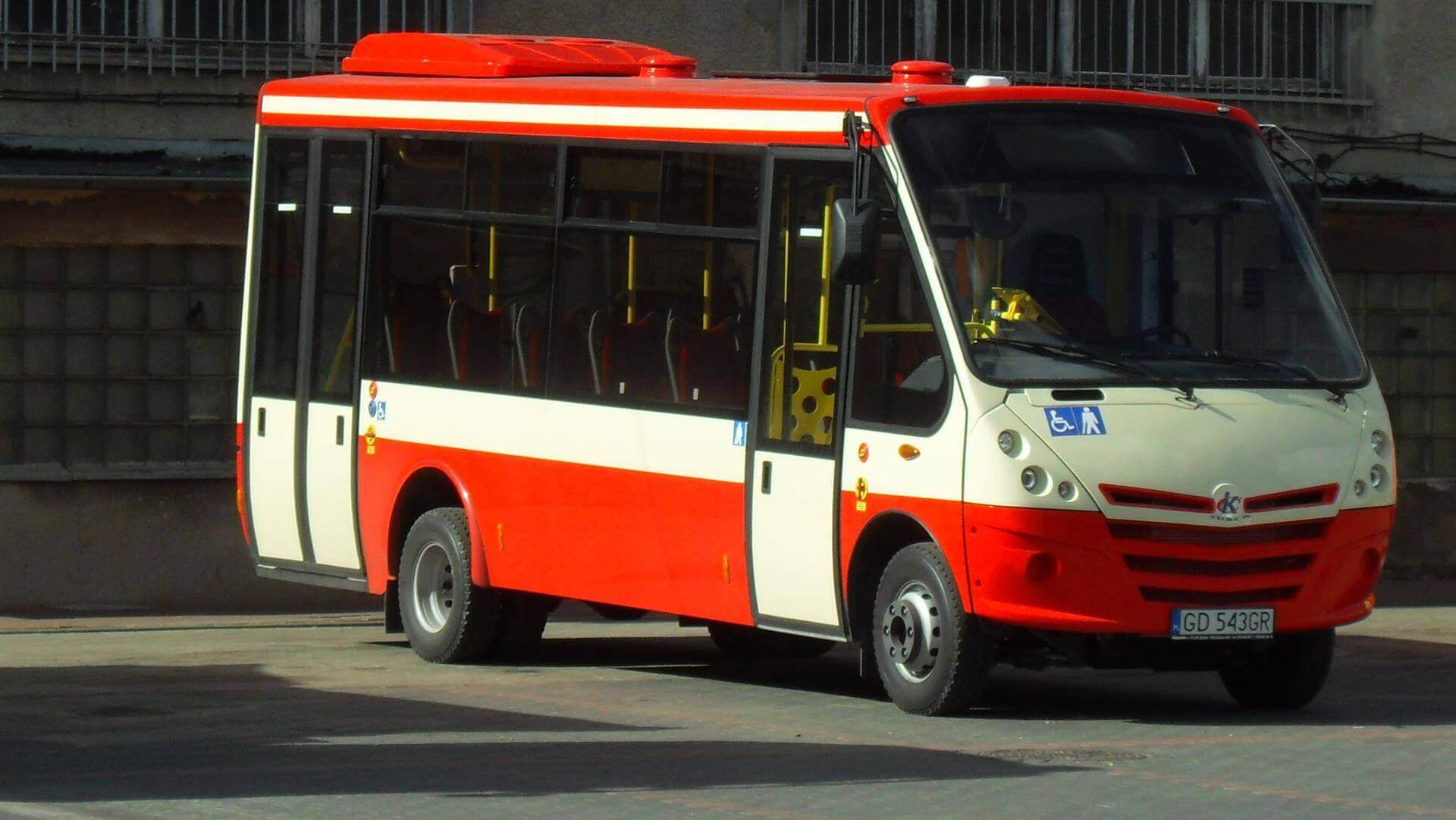 In districts where there aren't that many passengers small buses are servicing common connections.