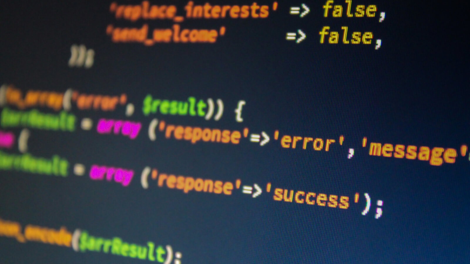 Coding: array, response, error, message, success...